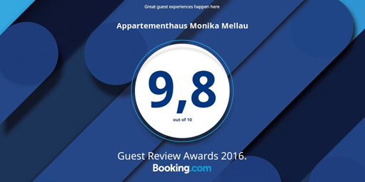 Guest Review Award booking.com - 9.8 out of 10